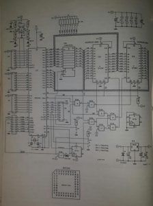 80C552 microprocessor system Schematic diagram