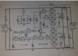D.c.-d.c. converter Schematic diagram
