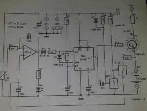 Experimental fast NiCd charger Schematic diagram