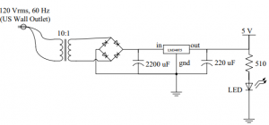Figure 2- AC to DC converter from part 1.