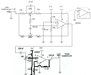 Figure 7- The complete audio amplifier (scary).
