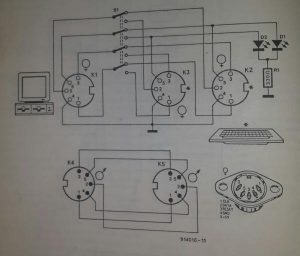 Keyboard change-over switch Schematic diagram
