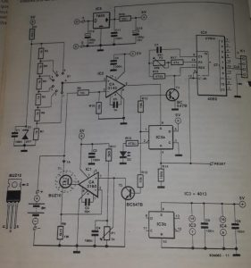 Measuring the capacity of NiCd batteries Schematic diagram