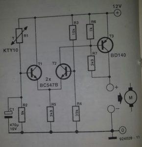 PC cooling fan control Schematic diagram