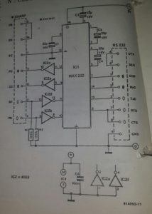 RS232 for Sharp pocket computers Schematic diagram
