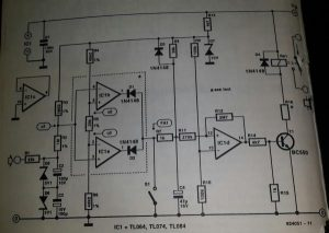 Stereo protector against d.c. schematic diagram