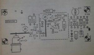 UHF remote control receiver Schematic diagram