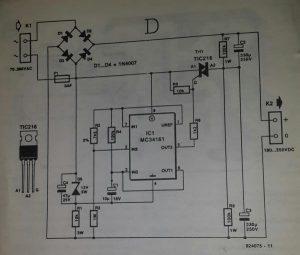 Voltage converter 1 Schematic diagram