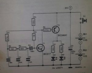 Basic infra-red transmitter Schematic diagram