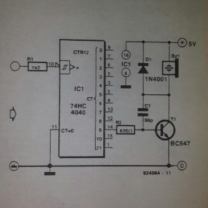 Frequency probe Schematic diagram