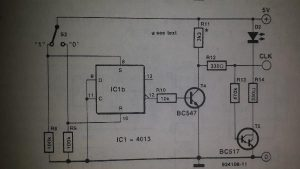 Manually controlled I2c output Schematic diagram