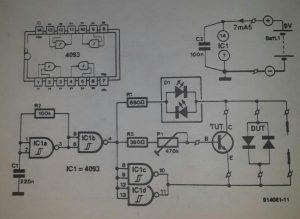 Semiconductor tester Schematic diagram