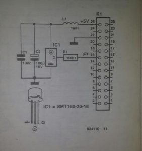 Smartec temperature sensor Schematic diagram