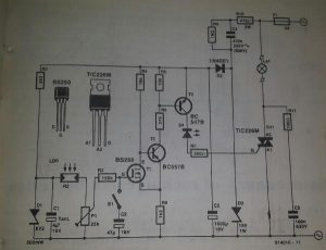 Solid-state light-sensitive switch Schematic diagram