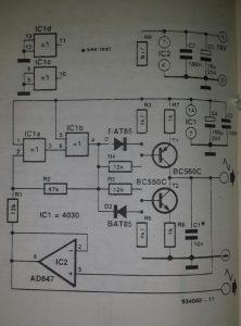 Triangular-signal generator Schematic diagram