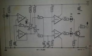 Video data change detector Schematic diagram