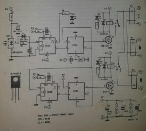 infra-red controlled remote switch Schematic diagram