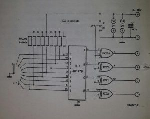 BCD rotary switch Schematic diagram