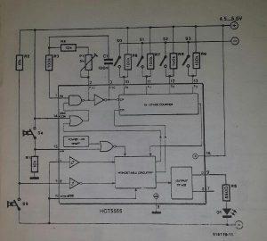 Digital 555 Schematic diagram