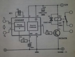 Frequency-operated switch Schematic diagram