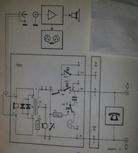 Telephone monitor Schematic diagram