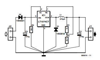 3-volts Car Adapter Schematic Diagram