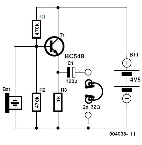 Electronic Stethoscope Schematic Circuit Diagram