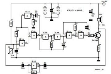 Noise-Driven Sound Generator Schematic Diagram