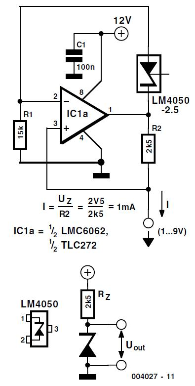Voltage Reference for Battery Powered Circuits Schematic Circuit Diagram