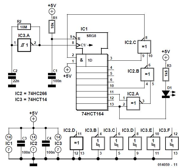 Random Flashing LED Schematic Circuit Diagram