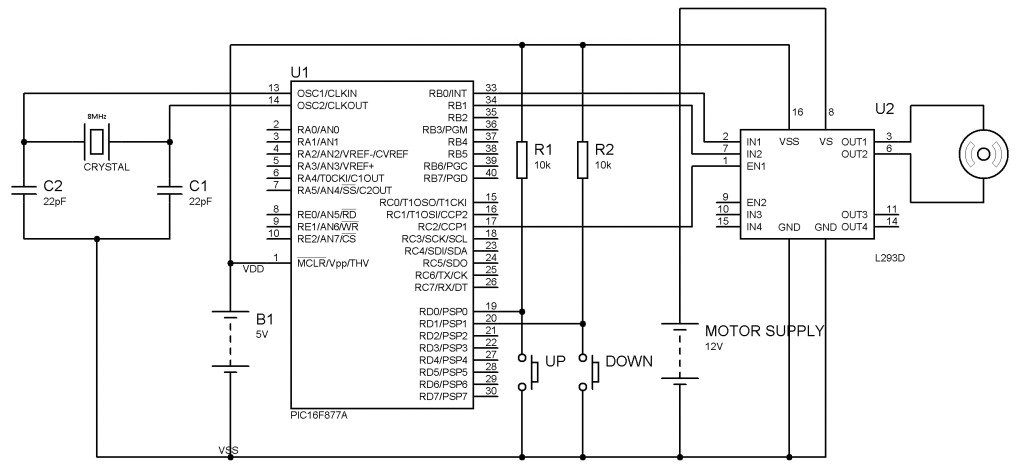 Circuit Diagram Of DC Motor Speed Control Using Microcontroller