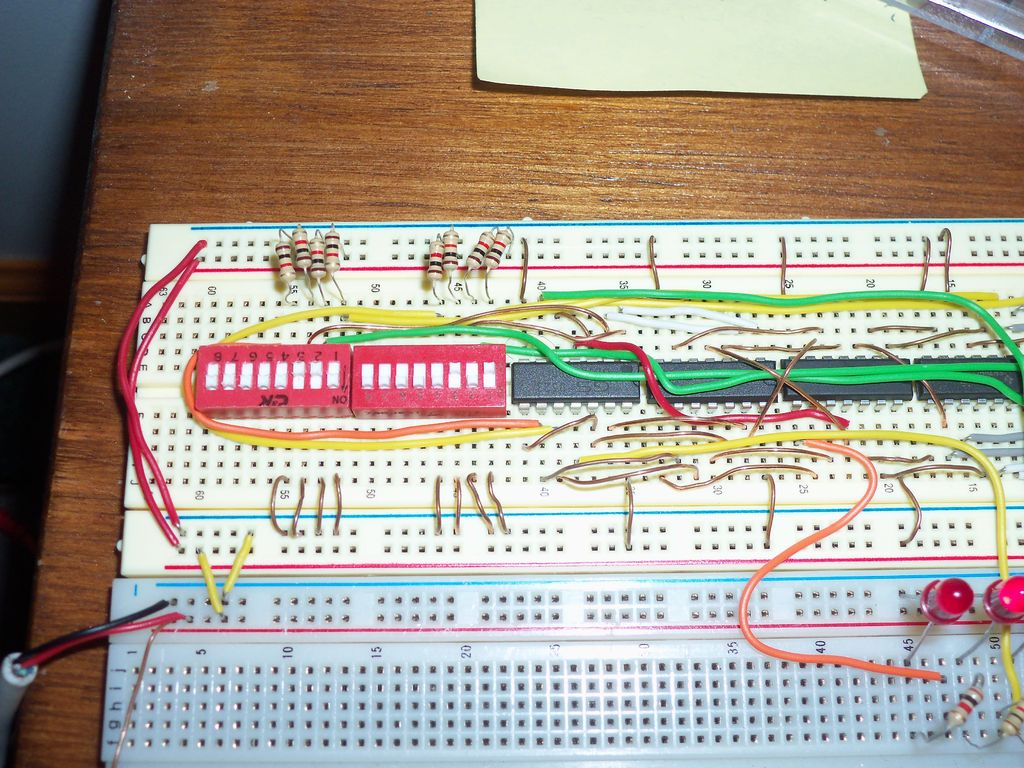 Circuit Diagram Of Calculator Using Logic Gates Wiring Step 5 Building It On A Breadboard