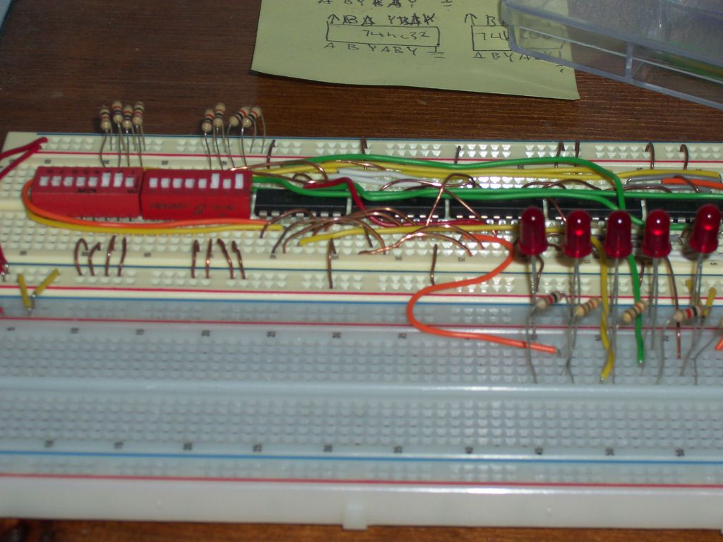 Circuit Diagram Of Calculator Using Logic Gates Led Wiring If You Use The 74hc Series Or 74hct Then Its Technically Not Tll But Who Cares About Techincal Details