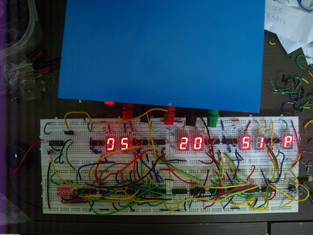 Circuit Diagram Of Digital Clock Using Counters 555 Timer 7 Segment Display Counter The Most Important Thing To Know Is When Dealing With Circuits Vcc Almost Always Means 5v I Have Not Uploaded Any Schematic Here