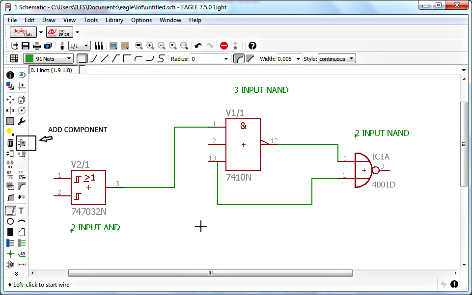 Drawing Schematic symbol using eagle