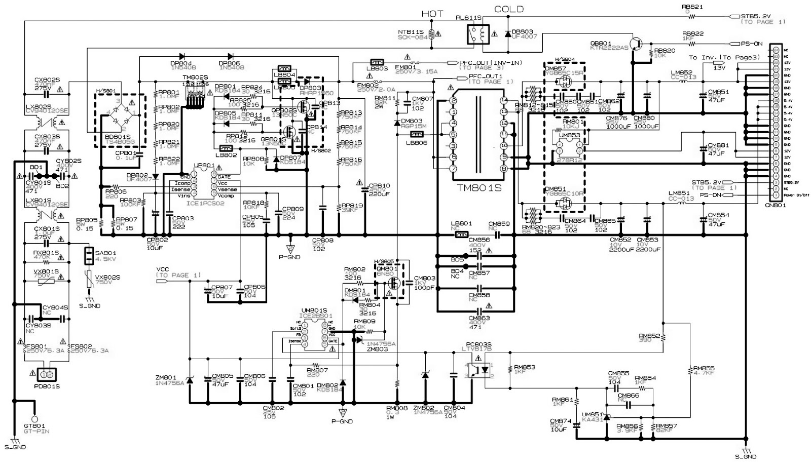 schematic for samsung tvs