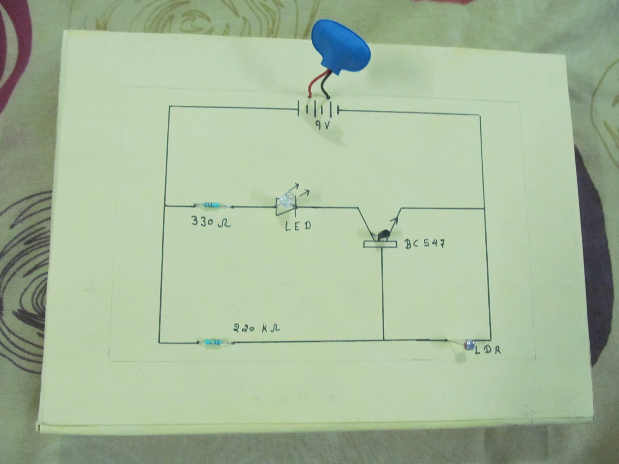 Simple Automatic Street Light Circuit    Diagram    with LDR