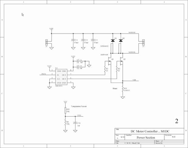 Circuit Diagram Of Electric Bike Controller For Motor