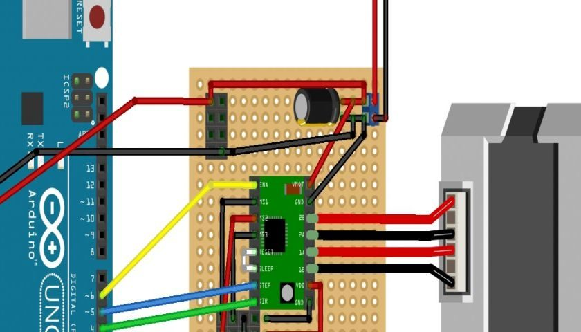 A4988 stepper motor driver circuit diagram for Stepping motors and their microprocessor controls