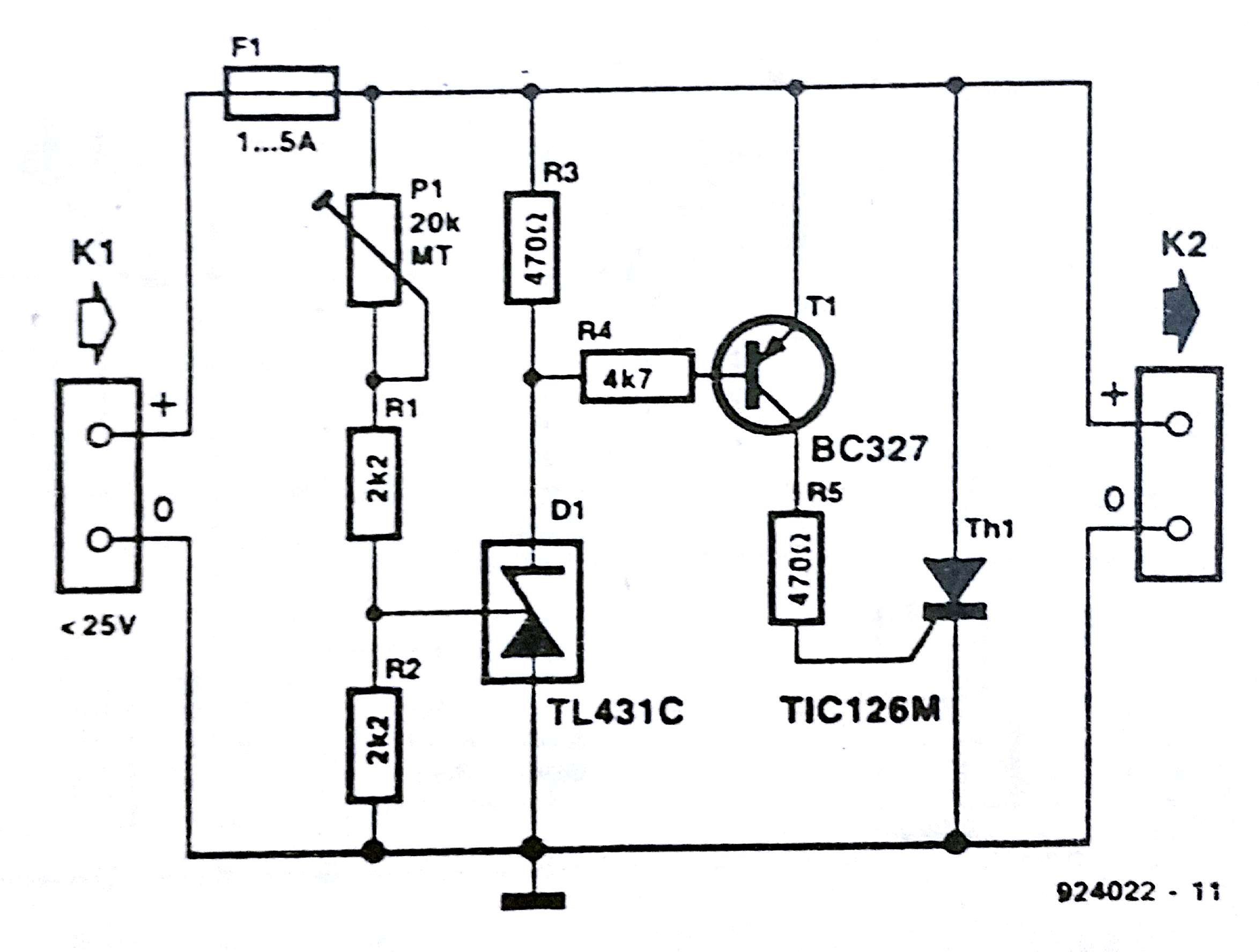Crowbar Over Voltage Protection Circuit Diagram Simple Solar Cell Battery Charger Diagrams