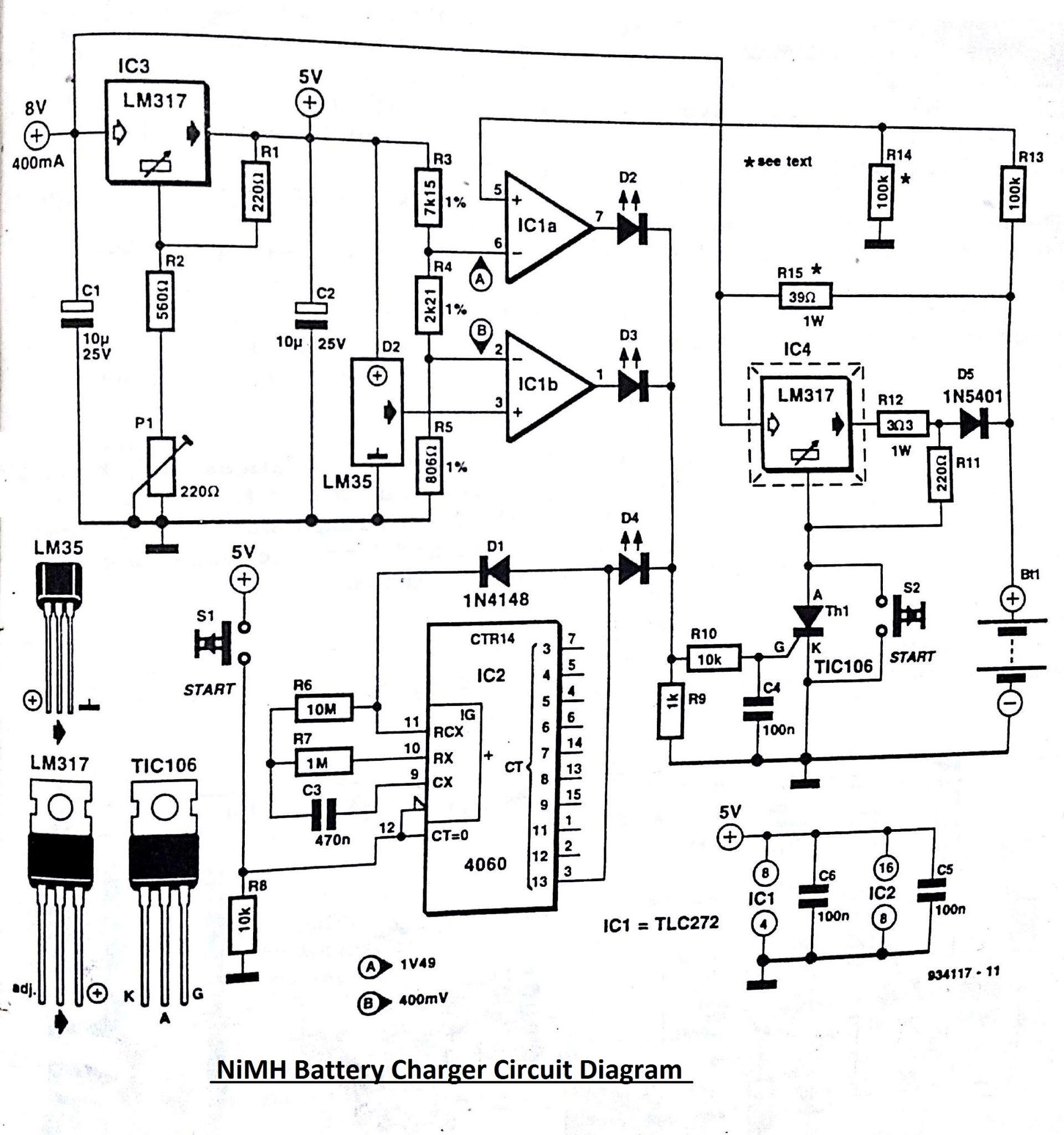 NiMH    Battery       Charger    Circuit    Diagram