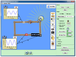 PhET circuit simulation lab