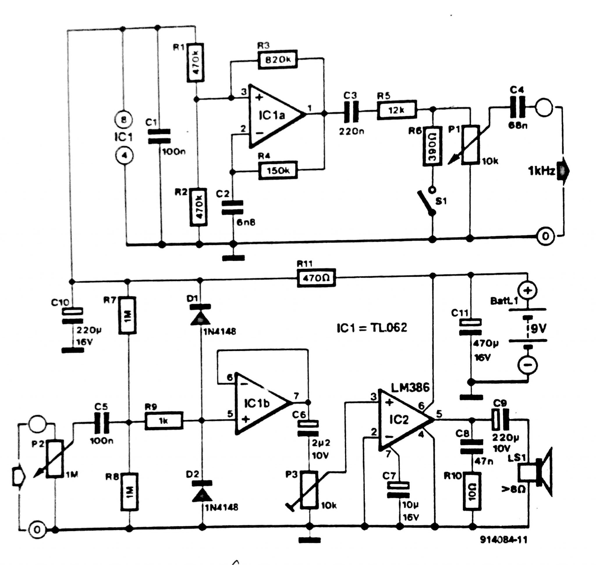 audible tester circuit diagram