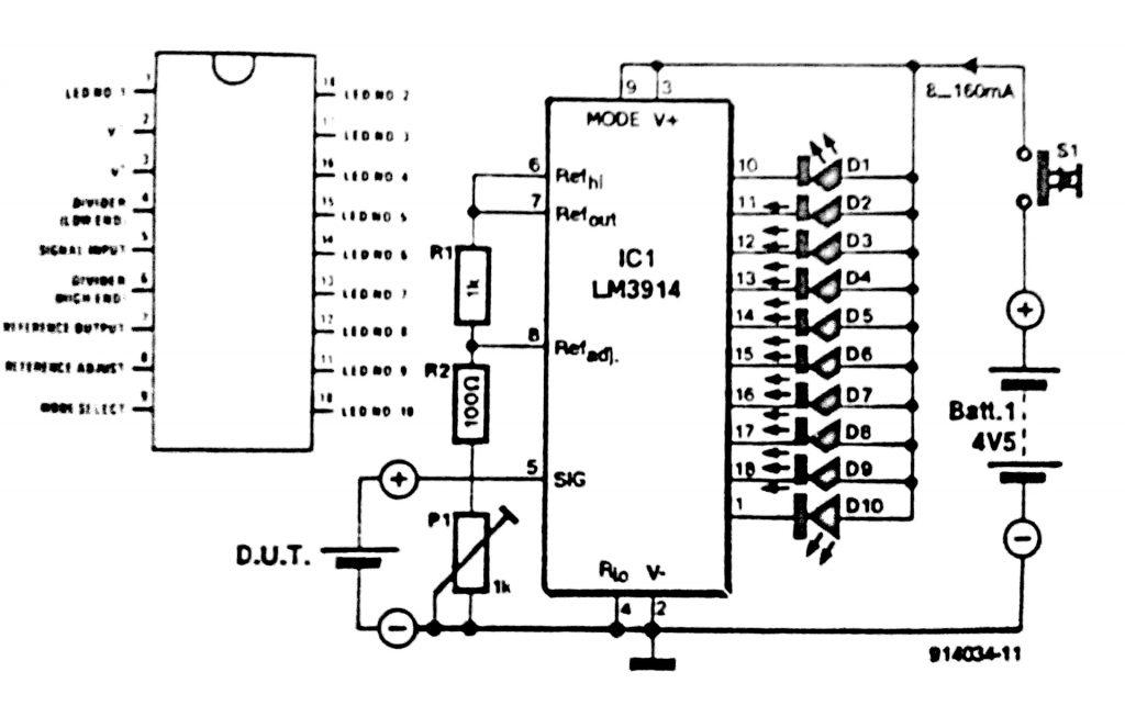battery tester circuit diagram rh circuit diagramz com car battery tester circuit diagram battery test circuit diagram