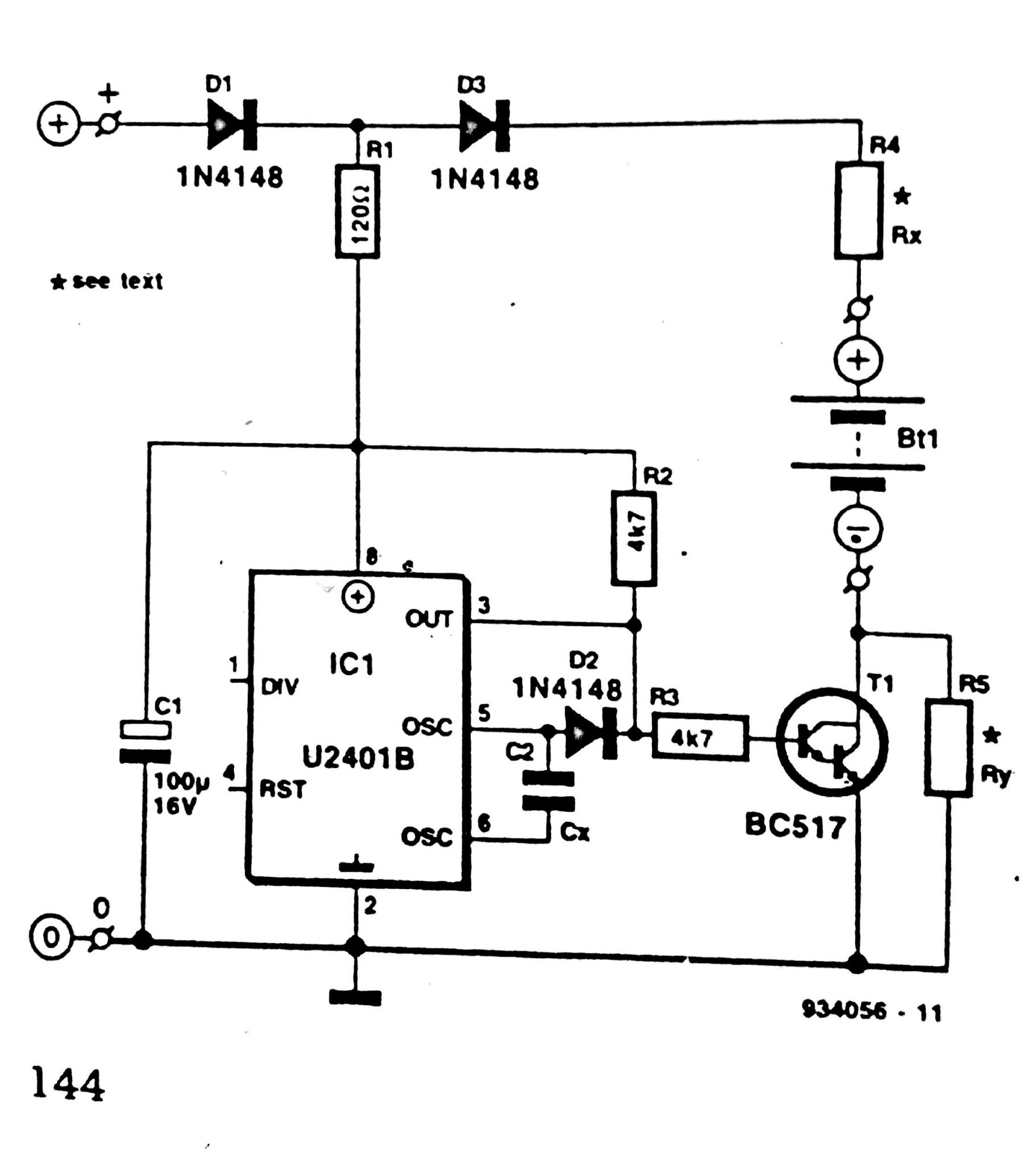 nicd button cell charger circuit diagram