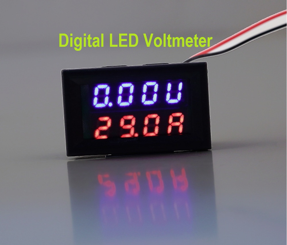 Circuit Diagram Voltmeter Digital Led