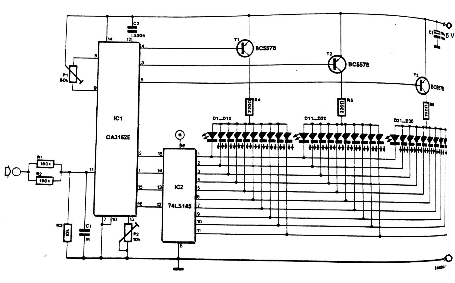 Digital LED Voltmeter Circuit Diagram. Digital LED voltmeter