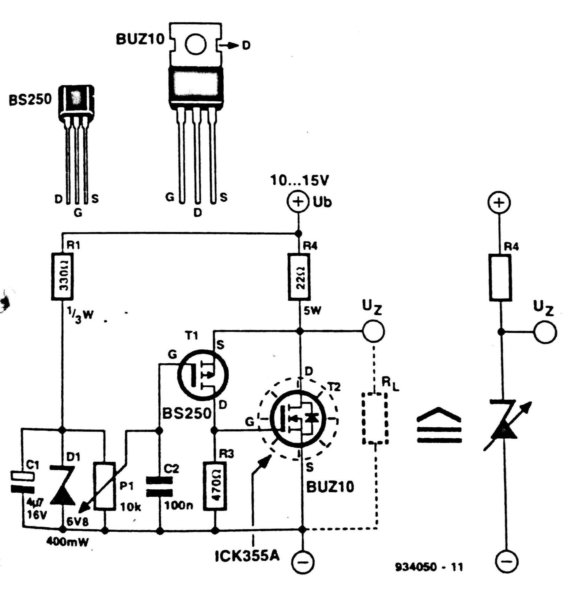 Zener Diode Diagram Images Free Download High Voltage Regulator Circuit Characteristics