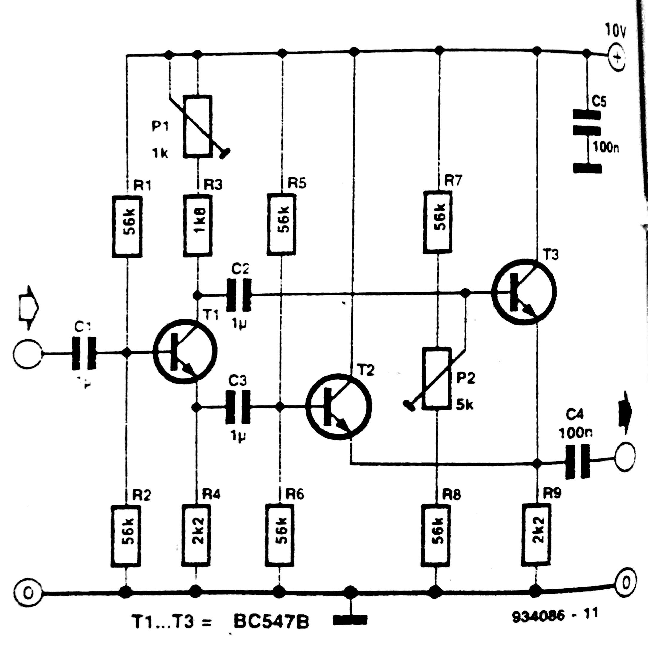 Frequency Doubler Frequency Multiplier Circuit Diagram