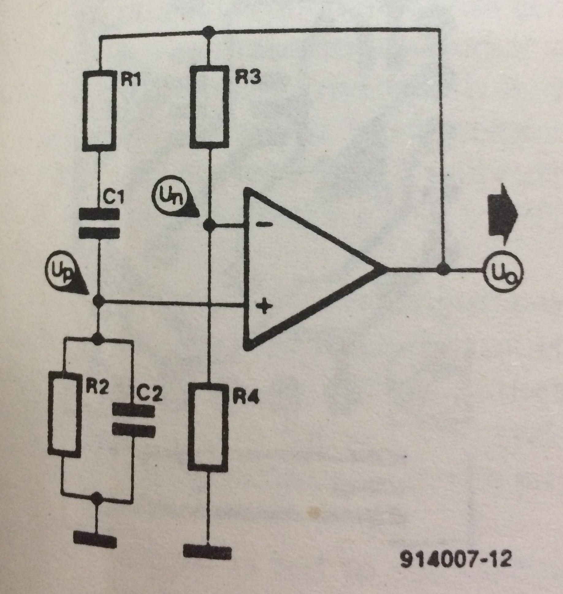 Wien Bridge With Asymmetrical Power Supply 9v Circuit